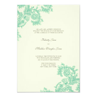 Vintage Lace | Emerald | Wedding Invitation