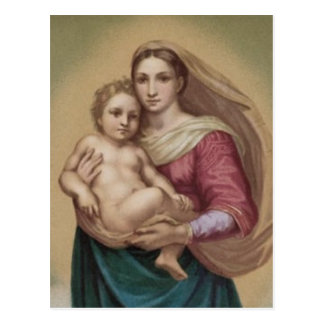 Vintage Madonna And Child Postcard