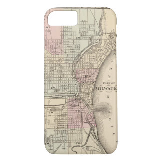 Vintage Map of Milwaukee (1880) iPhone 7 Case