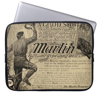 Vintage Marlin Firearms Good Shot Laptop Sleeve