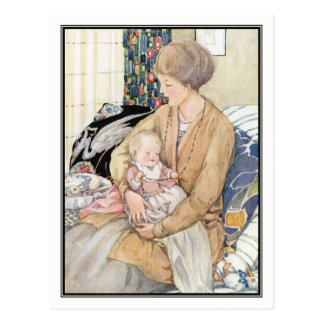 Vintage Mother and Baby by Anne Anderson Postcard