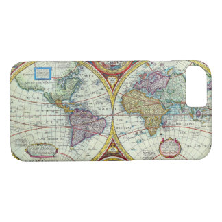 Vintage New and Accurate World Map Circa 1626 iPhone 7 Case