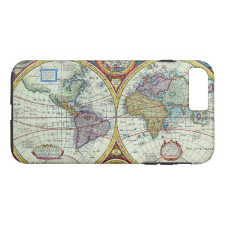 Vintage New and Accurate World Map Circa 1626 iPhone 7 Plus Case