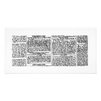 Vintage Newspaper Print Photo Card Template