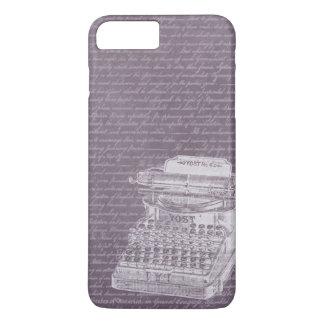 Vintage Old Typewriter & Scripts Elegant iPhone 7 Plus Case