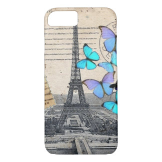 Vintage Paris Butterfly fashion iPhone 7 case