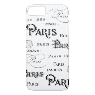 Vintage Paris Script iPhone 7 Case