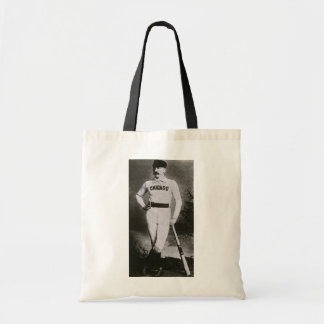 Vintage Photo, Sports Chicago Baseball Player Budget Tote Bag