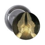 Vintage Religion, Portrait of Angels Praying 2 Inch Round Button