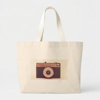 Vintage Retro Sepia Camera Jumbo Tote Bag