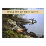 Vintage Riverbank Fishing Trip Invitation