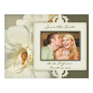 Vintage Rose Save the Date Photo Postcards