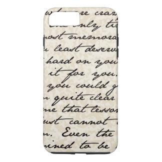 Vintage Script Text iPhone 7 Plus Case