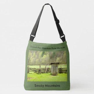 Vintage Smoky Mountains Outhouse Travel Photo Tote Bag