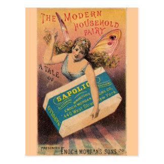 Vintage Soap Ad Fairy Postcard