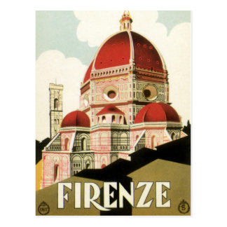 Vintage Travel Florence Firenze Italy Church Duomo Postcard