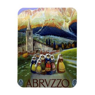 Vintage Travel, Women of Abruzzo, Italy Rectangular Photo Magnet