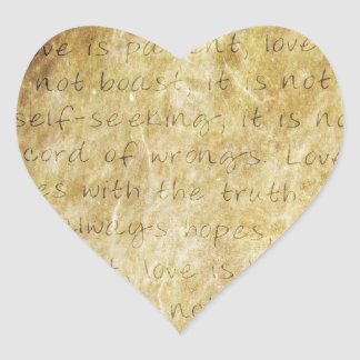 Vintage  Wedding Love is Patient Envelope Seal Heart Sticker