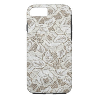 Vintage White Rose Lace iPhone 7 Case