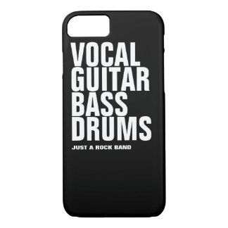 vocal, guitar, bass, drums... rock iPhone 7 case
