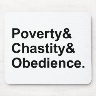 Voeux de Monastic de l'obéissance | de chasteté de Tapis De Souris
