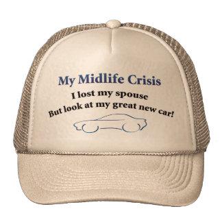 Voiture de crise de milieu de la vie casquettes de camionneur