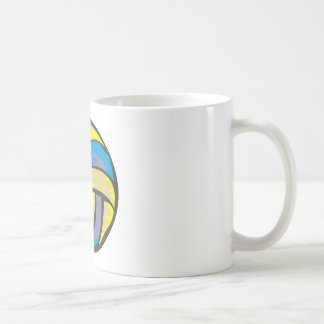 Volleyball in Hand-drawn Style Classic White Coffee Mug