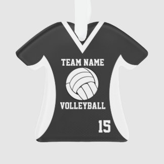 Volleyball Sports Jersey Black with Photo