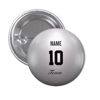 Volleyball Team 1 Inch Round Button