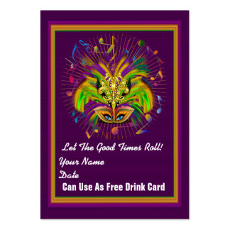 Voodoo Queen Mardi Gras Throw Card See notes Large Business Card