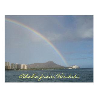 Waikiki Beach, Hawaii Postcard