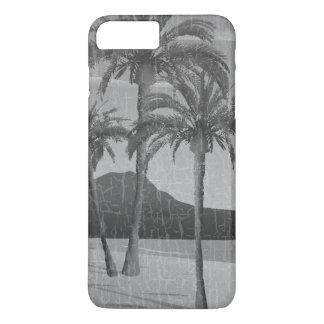 Waikiki Beach Vintage Distressed Gray Postcard iPhone 7 Plus Case