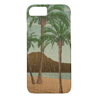 Waikiki Beach Vintage Distressed Postcard iPhone 7 Case