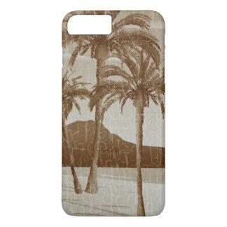 Waikiki Beach Vintage Distressed Sepia Postcard iPhone 7 Plus Case