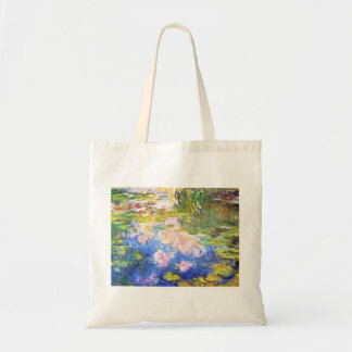 Water Lily Pond Claude Monet Budget Tote Bag