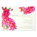 "Watercolor Floral Bridal Shower 5"" X 7"" Invitation Card"
