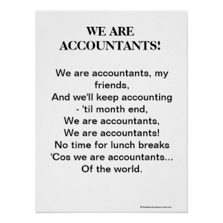 We Are Accountants ! Motivational Accountant Song Poster