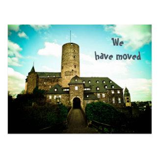 We have moved - castle motive cards postcard