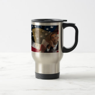 We the People...Barack Obama & the Constitution 15 Oz Stainless Steel Travel Mug