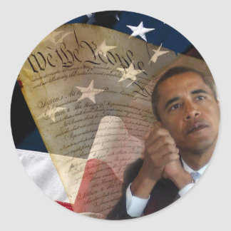 We the People...Barack Obama & the Constitution Round Sticker