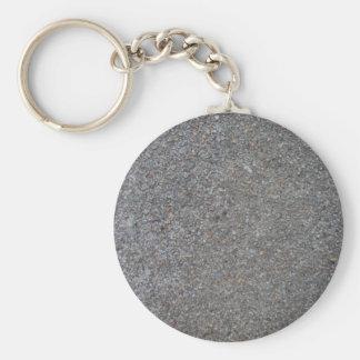 Weathered Concrete Basic Round Button Keychain
