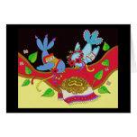 Wedding Birds Ukrainian Folk Art Note Card