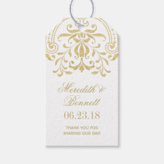 Wedding Favor Tags | Gold Vintage Glamour Pack Of Gift Tags