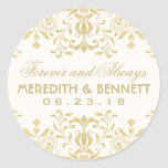 Wedding Favour Stickers | Gold Vintage Glamour