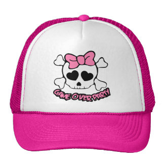 wedding,game over party,bride,bachelorettes trucker hat