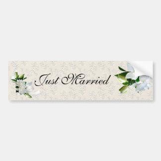 Wedding Gardenias Bumper Sticker