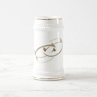 Wedding Rings Art 18 Oz Beer Stein