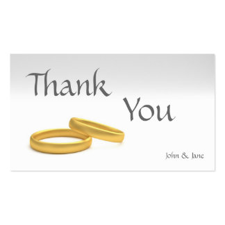 Wedding Thank You Business Card