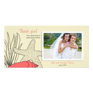 Wedding Thank You Photo Card - Beach Theme