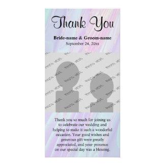 Wedding Thank You. Seashell Style Pattern. Customized Photo Card